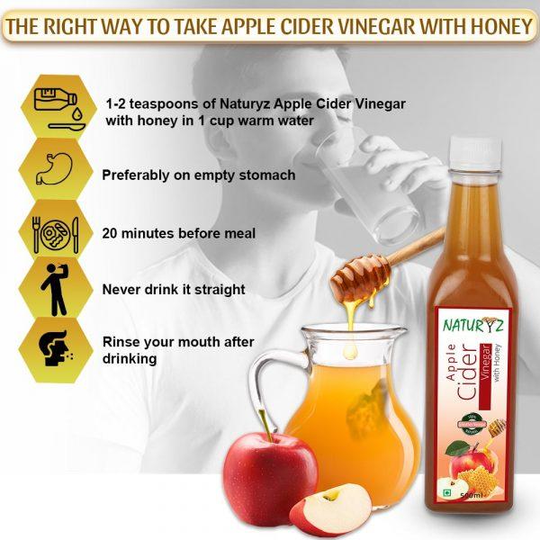 right way to take naturyz apple cider vinegar