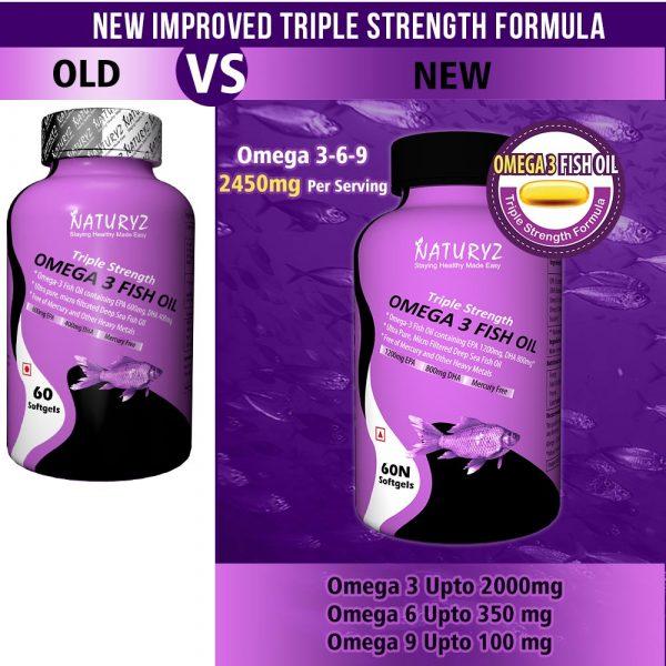 Buy Naturyz Omega 3 Fish Oil