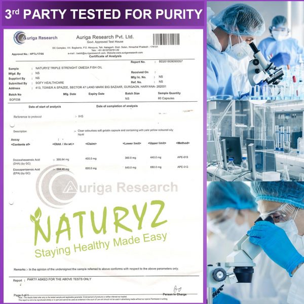 Naturyz Omega-3 Fish Oil tested for purity