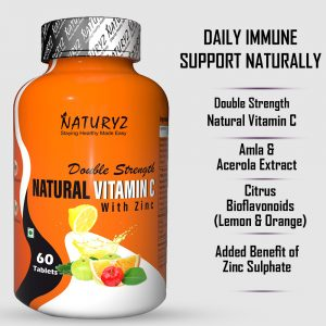 double strength natural vitamin C with zinc