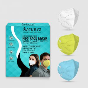 naturyz multicoloured N95 face mask pack of 3