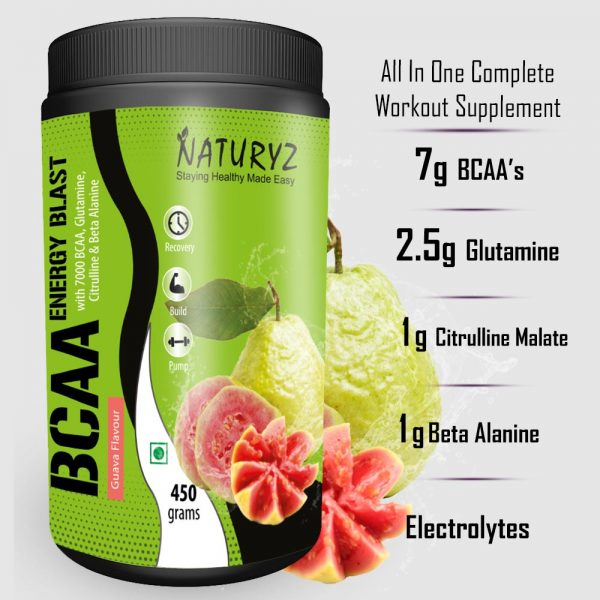 BCAA guava complete workout supplement