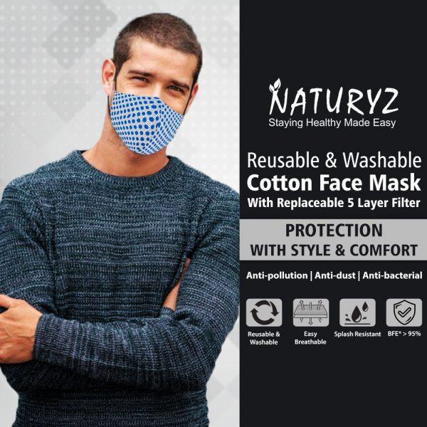 reusable & washable face mask for men