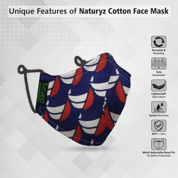 naturyz cotton face mask