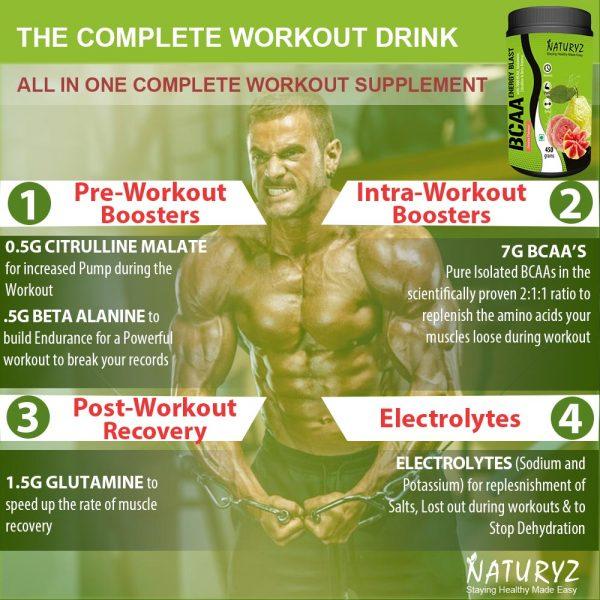 BCAA guava workout supplement