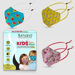 naturyz kids face mask pack of 3