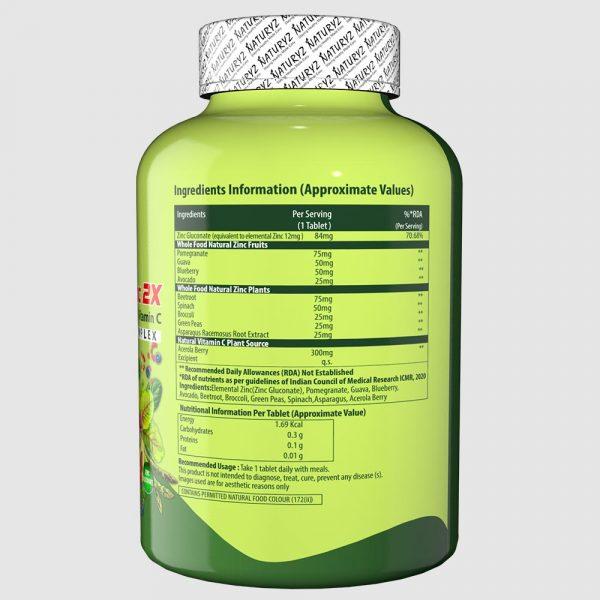 naturyz double strength natural zinc ingredients information