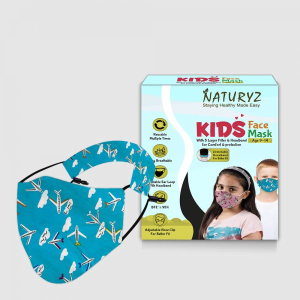 naturyz kids face mask pack of 1 age group of 9-14 years