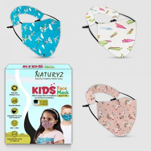 naturyz kids face mask pack of 3 age group of 9-14 years