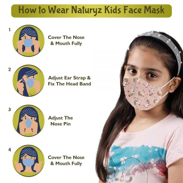 how to wear naturyz face mask for kids