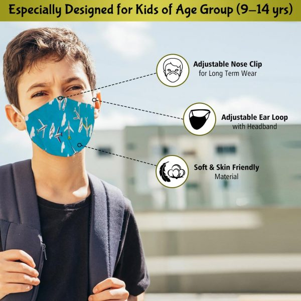 face mask for kids of age group 9-14 years