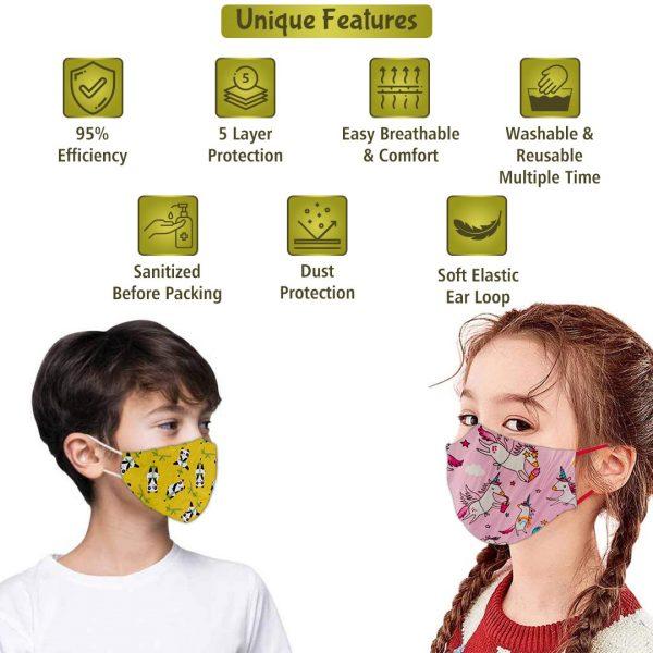 unique features of naturyz kids face mask