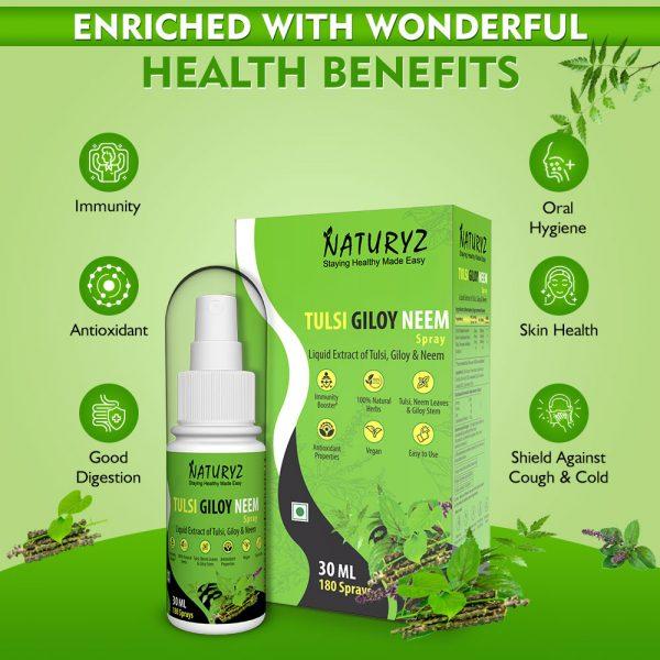 benefits of Naturyz Tulsi Giloy Neem Spray