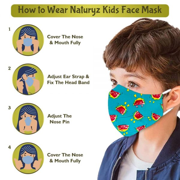 how to wear naturyz kids face mask