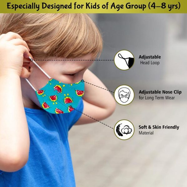 face mask for kids of age group 4-8 years